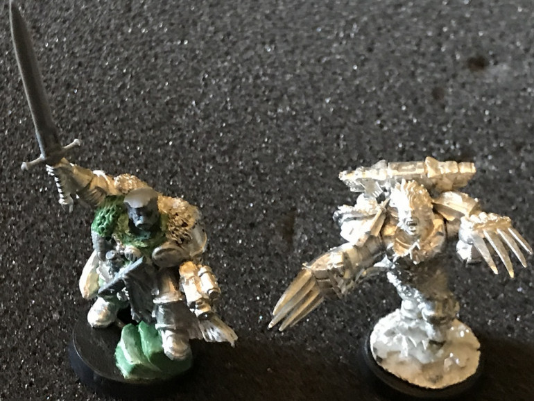 I might try to revisit this conversion a ta later date, but man that Chaos Lord was smaller than I expected him to be....