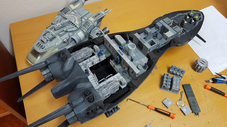 The scout ship modular interior is finished.