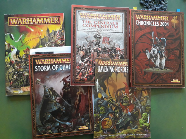 A few of the ancient tomes....