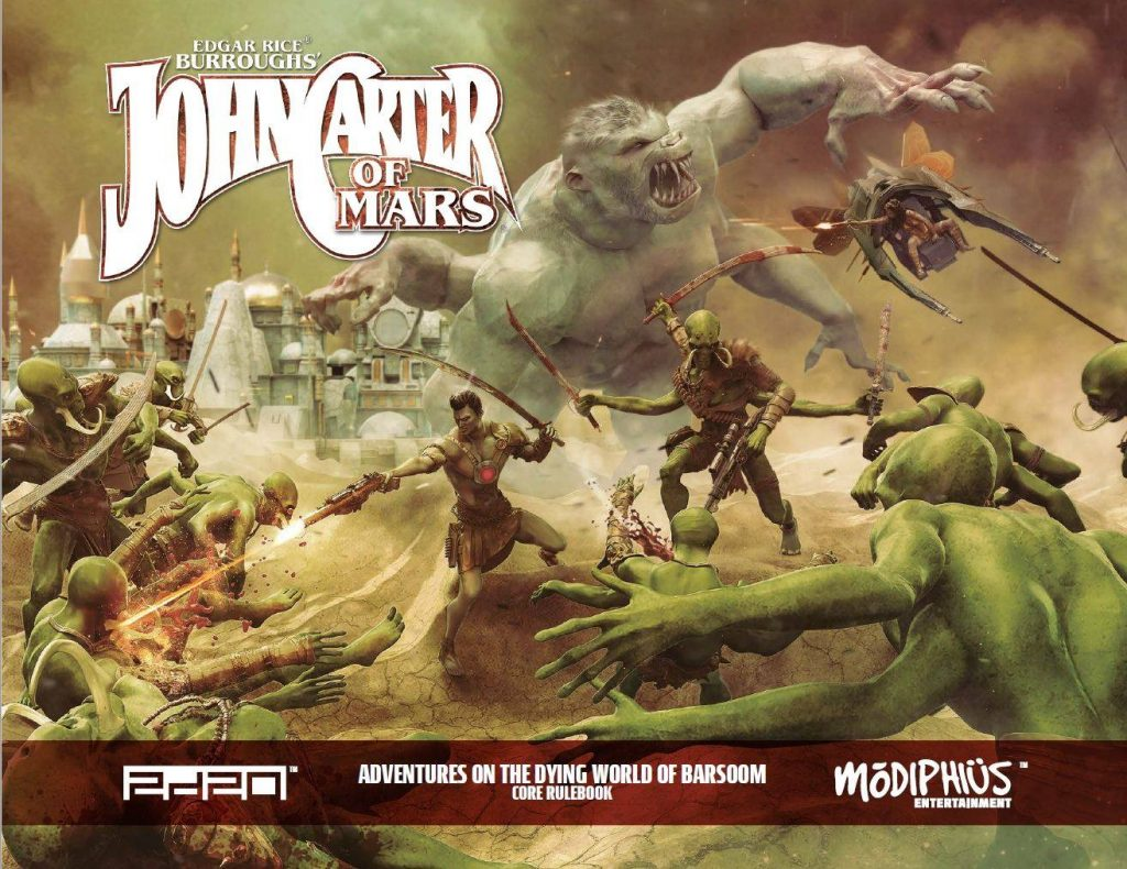 John Carter Of Mars Core Rulebook - Modiphius
