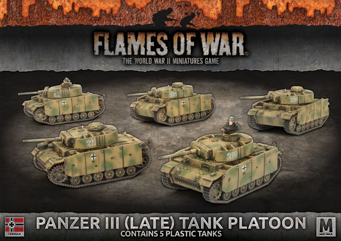 Panzer III (Late) Tank Platoon - Flames Of War