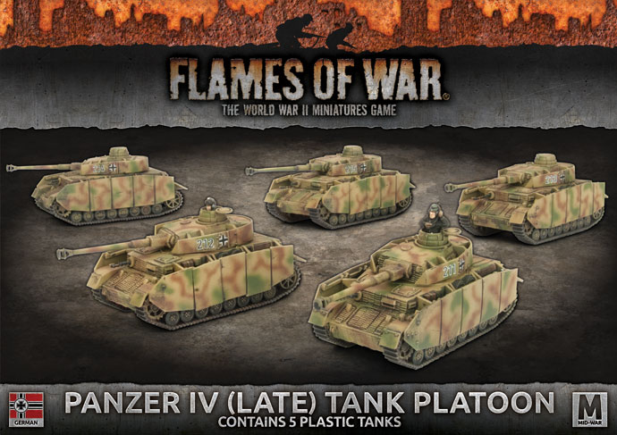 Panzer IV (Late) Tank Platoon - Flames Of War