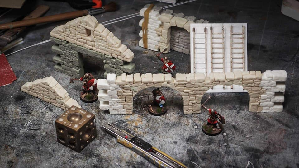 Fenris Games Pilfer Inside Rubble City Terrain Prototypes
