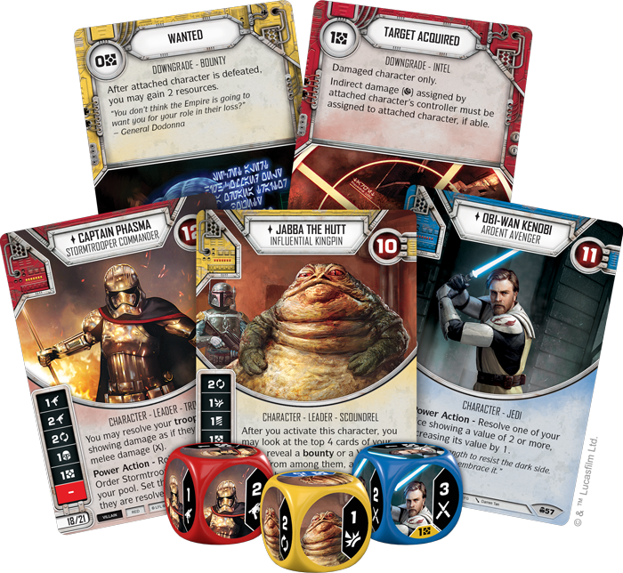 Star Wars Destiny Convergence Card Spread - FFG