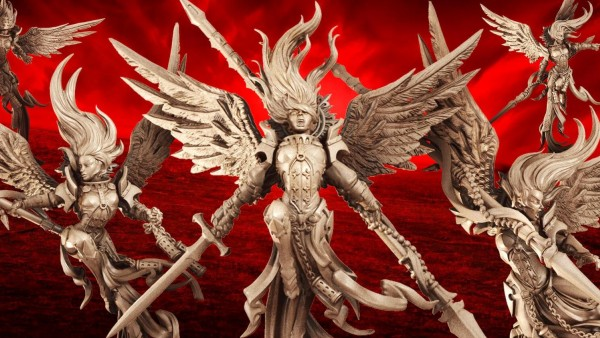 Raging Heroes Bring Angels All-Stars Miniatures To The Tabletop