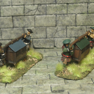 Finished these AW miniatures Palanquins.