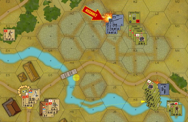 Okay, time for the NVA to win this game.  If they can assault Waterman's hex, all those casualties are considered