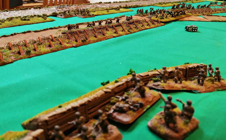 The Position from German Green Platoon over on the East flank