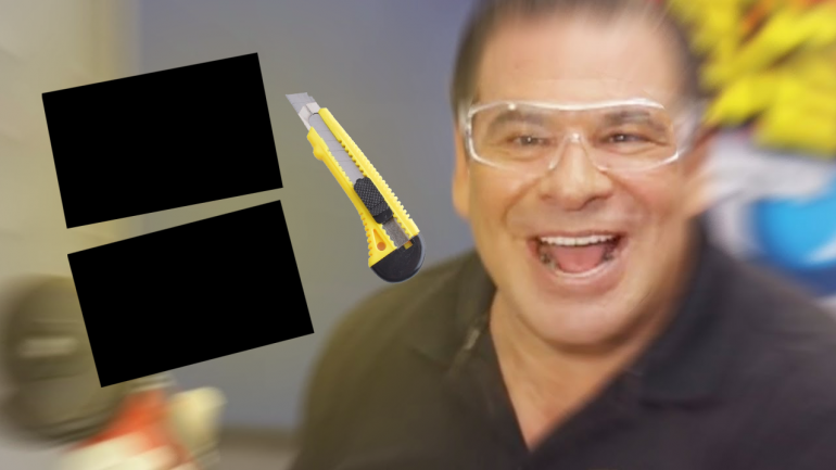 I sawed this BOARD in half!