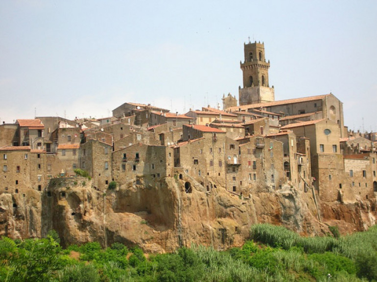 A typical Tuscan hill village yesterday