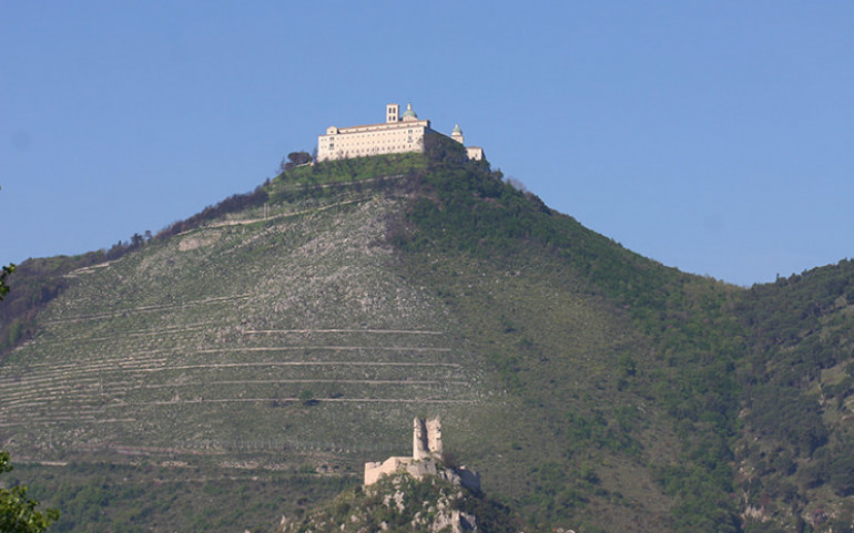A modern day Monte Cassino with the rebuilt monastery