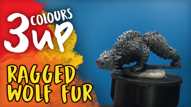 3 Colours Up: Painting Ragged Wolf Fur