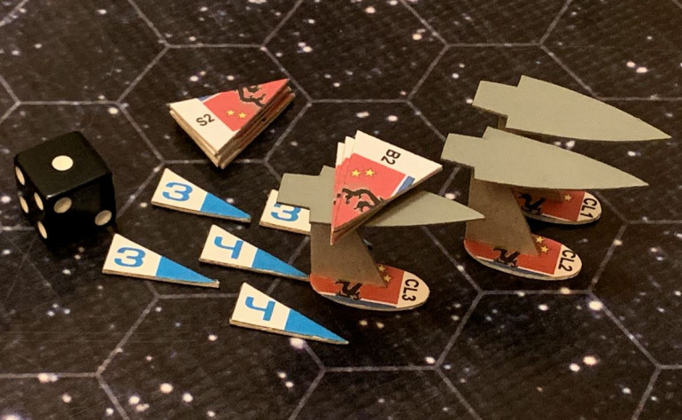 As the Black Dragon torpedoes are coming in against USS Oriskany, Princeton, and Daggerfish, American Mark 48 torpedoes are coming in against the Black Dragons.  Last turn, however, I was unable to launch anything close to a full spread because that jack-knife turn had many of my tubes pointing the wrong way.  The end result is that the Black Dragons, especially the Zhang Jia with her electronic warfare battle upgrade, have more than enough mass driver fire to destroy my torpedoes before they hit anything.