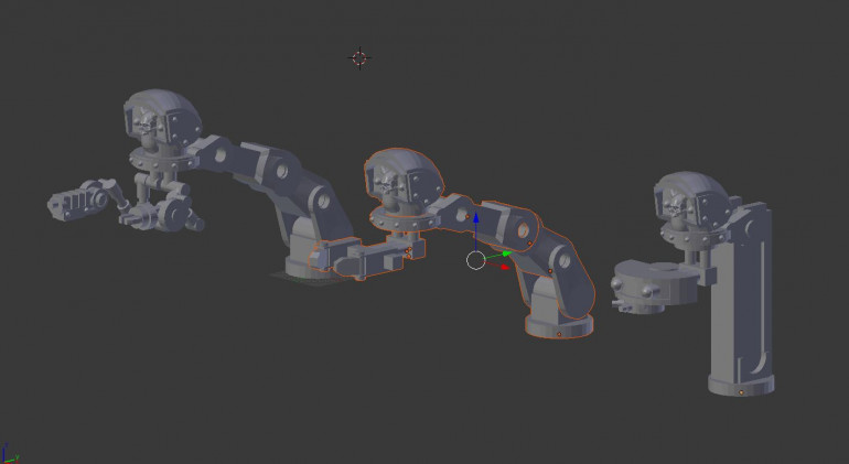 and for the assembly arms i went for 3 variations, heavy tool arm, claw and scanner.