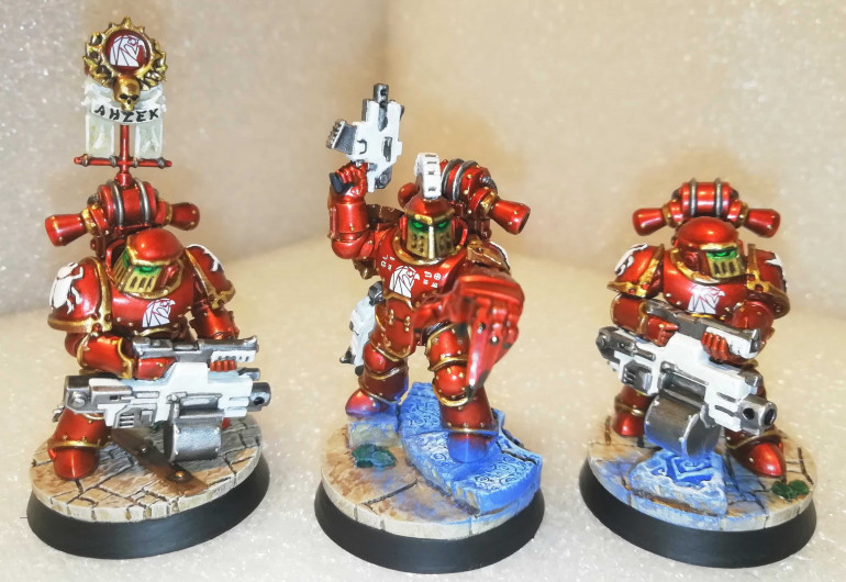 Sarge and two Heavy Bolter dudes (one with Vexila)