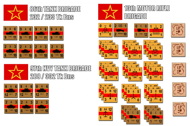 The Soviet force is at least 1300 strong, plus 70 tanks as well.  But these tanks are nowhere near as powerful.  Yes, those KV-1s of 97th Heavy Tank Brigade are great, and T-34/c medium tanks of the 86th Tank Brigade never go wrong.  But about half the Soviet tank force are T-60A light tanks.  Barely weighing 5.8 tons, they carry only a 20mm autocannon and armor sometimes as thin as 7mm.  For all the press the T-34 gets, in early 1943 a huge portion of the Red Army's tank force was made up of hopelessly inadequate machines like this.