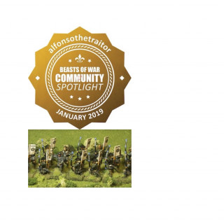 I received a Golden Button Community Spotlight for my Uesugi archers. THANK YOU !