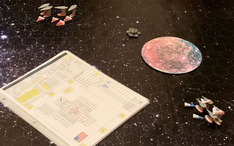 We make out initial approaches.  The Black Dragons will almost always lose initiative (American ships are smaller, faster, have upgraded thrust, and ALL of them have the