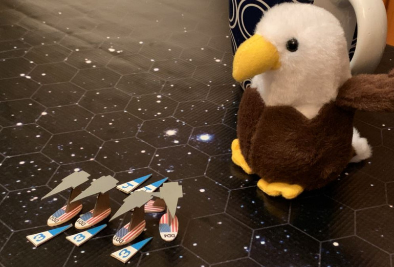 In all honesty, perhaps a big part of the Americans' luck so far is due to my little mascot, Fillmore the Bald Eagle!