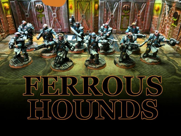 Group Shot of the Ferrous Hounds, i quite liked the original colour scheme for the Orlocks so i kept with that but just decided to change the gang name.
