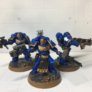 Space Marine Heroes squad done.