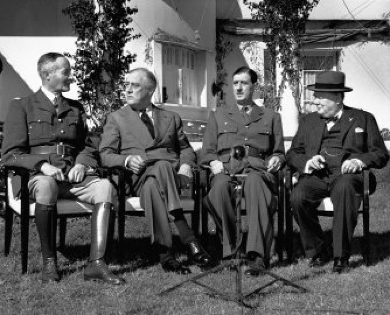 Allied leaders at Casablanca, January 1943
