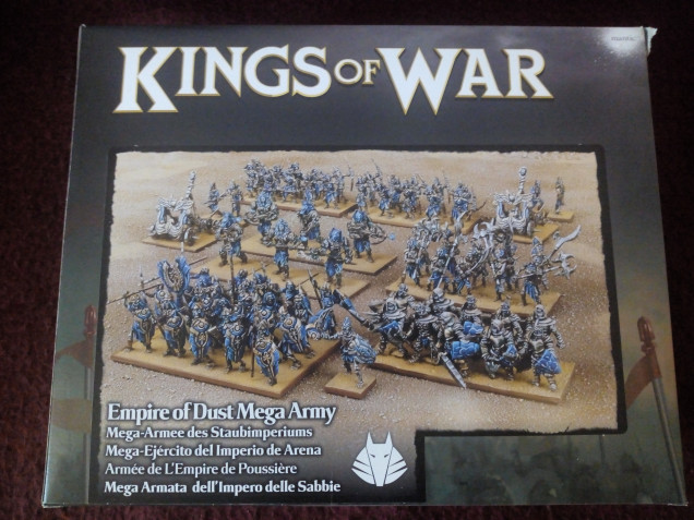 With my above army list set my first purchase was the Empire of Dust Mega Army Deal which I purchased through an independent called Goblin Gaming.