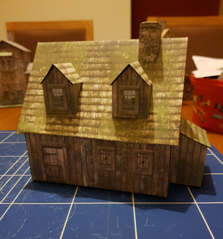 Farmhouse, the little bit at the side is a wood store. This is probably my favourite model this week.