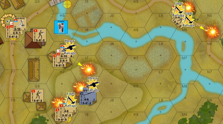 Marine Turn 2 starts with the Command Phase, when they call in all their off-board artillery.  The