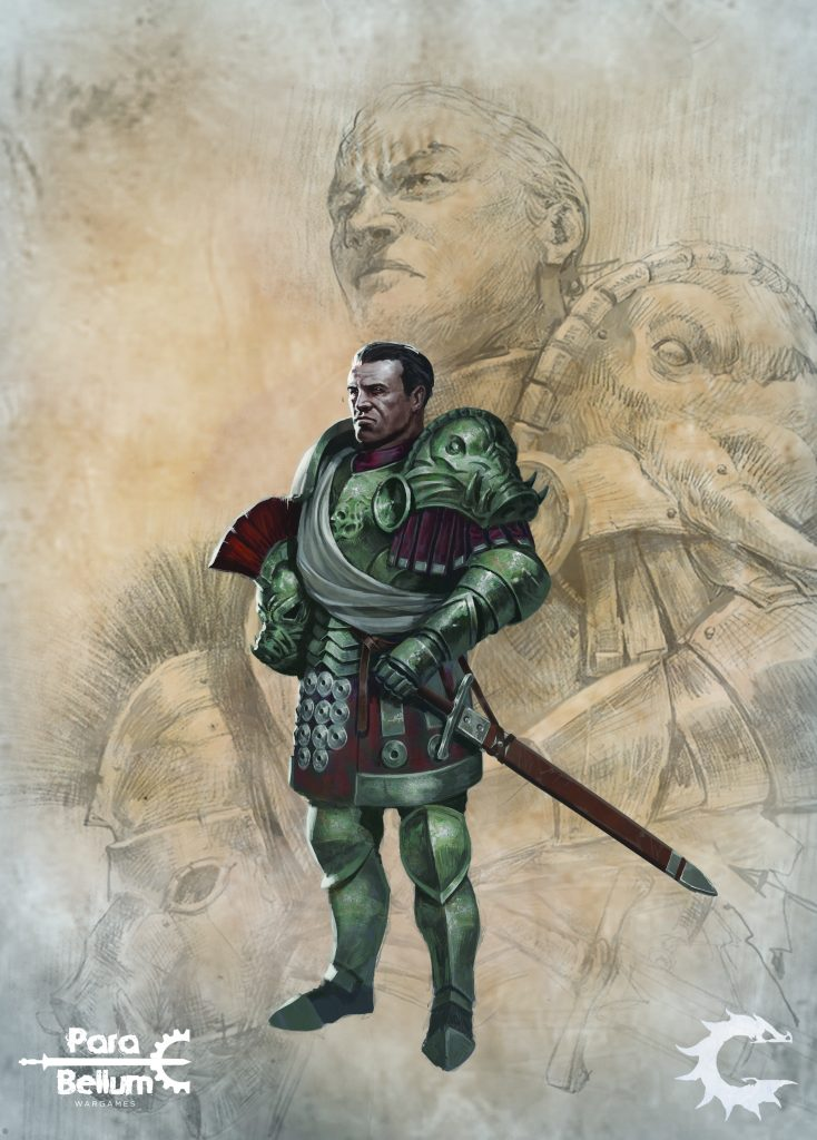 Imperial Officer Artwork - Para Bellum Wargames