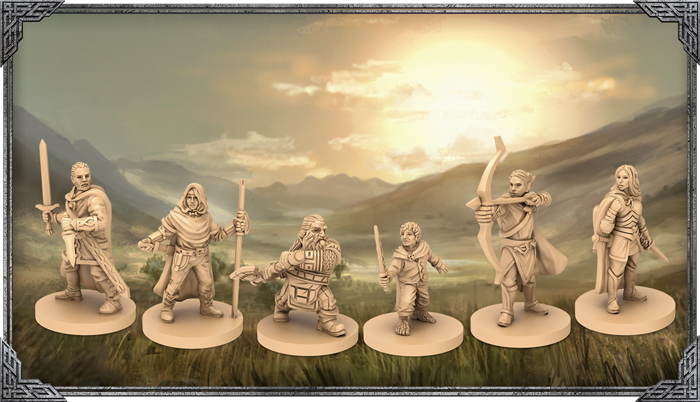 The Lord Of The Rings Journeys In Middle-earth (Hero Miniatures) - FFG