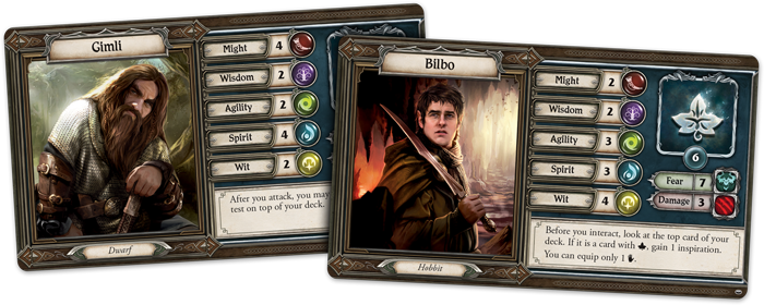 The Lord Of The Rings Journeys In Middle-earth (Heroes) - FFG