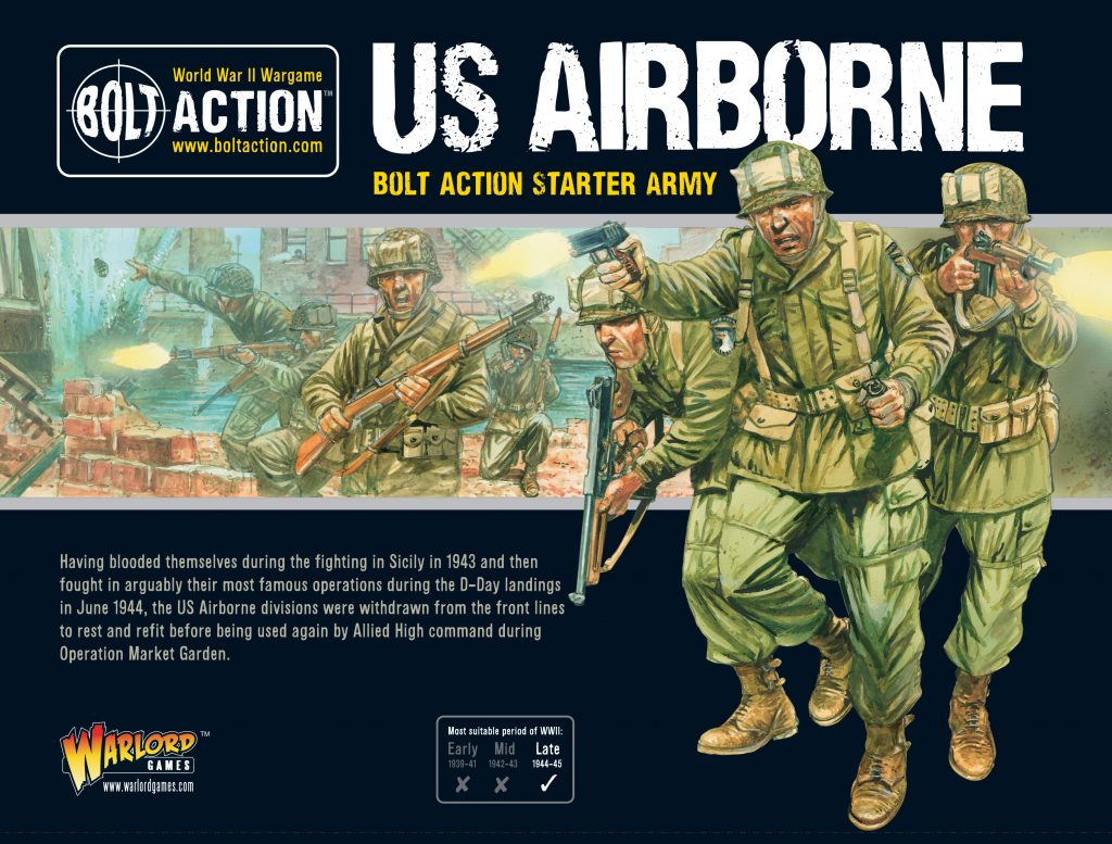 US Airborne Bolt Action Starter Army - Warlord Games