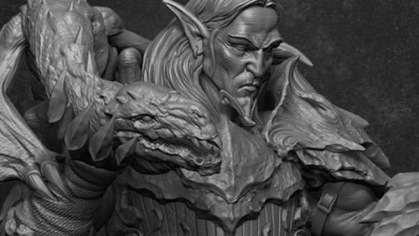 Check Out Ouroboros Miniatures' Stunning Dragon Lord Bust