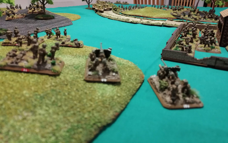 The 6pdr guns have an excellent view down the Via Anziate