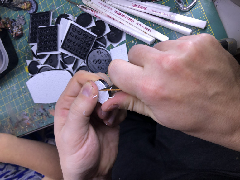 Trimming the last excess material