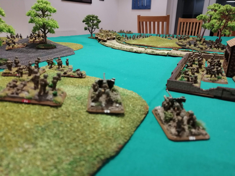 The view the 6pdr anti tank teams have as the Panzer advance down the Via Anziate