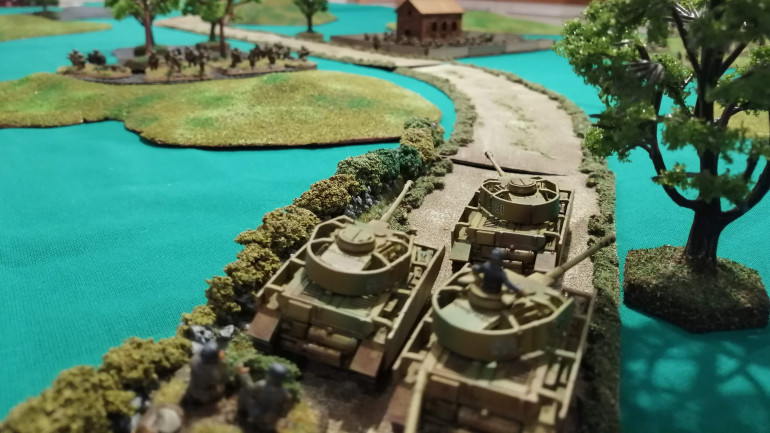 The view from the Panzers as they advance up the Via Anziate