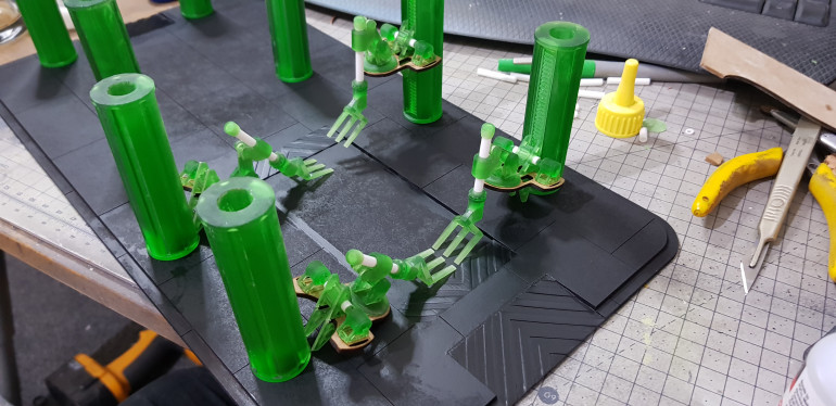 All current printed and laser cut components together for the first time.