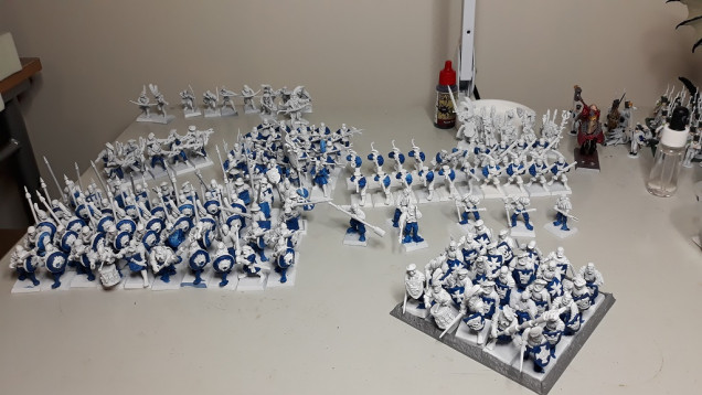 Batch Painting 150 Minis At A time - Not As bad As It Sounds...