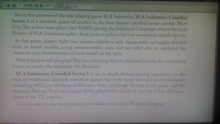 The introduction taken from the pdf of the rules