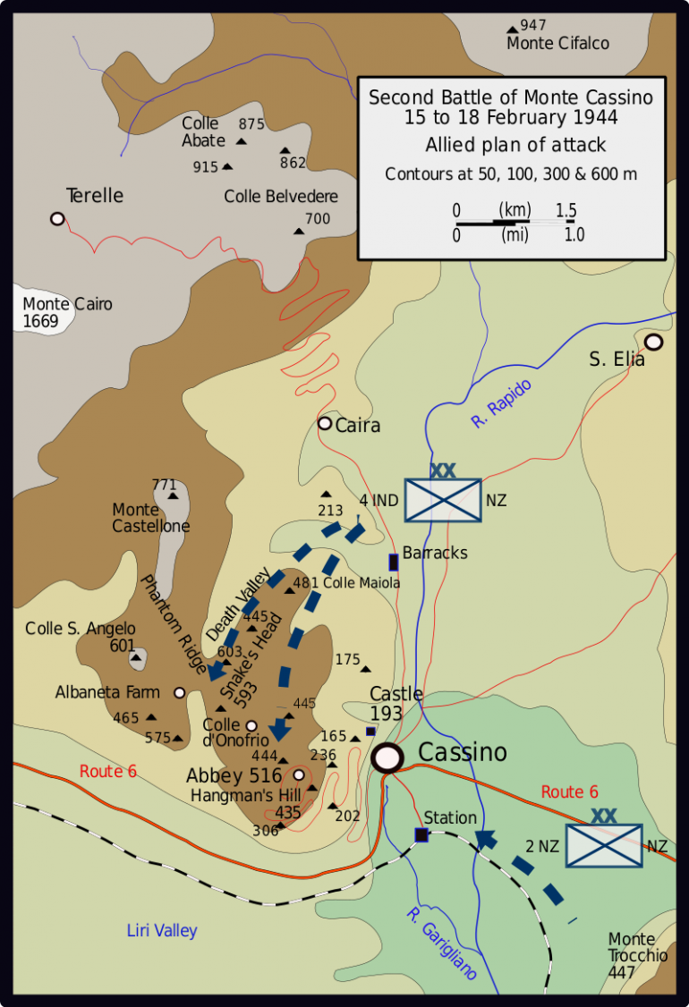 A view of the battle plan