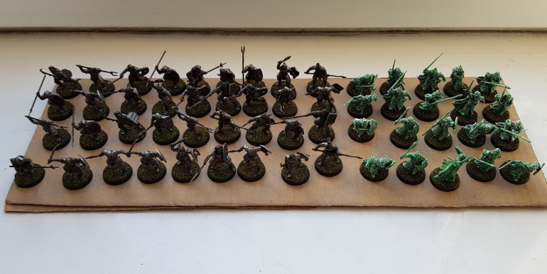 Orcs next to the Warriors of the dead from last week