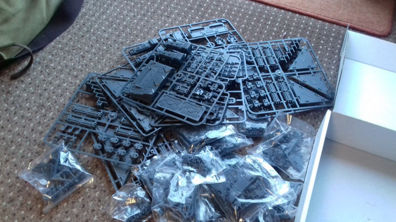 And the other two contained loads of Mantic Deadzone terrain which was available at a very good price as an add on.