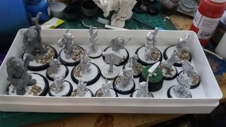 minis, cleaned and based, I used hard as nails to