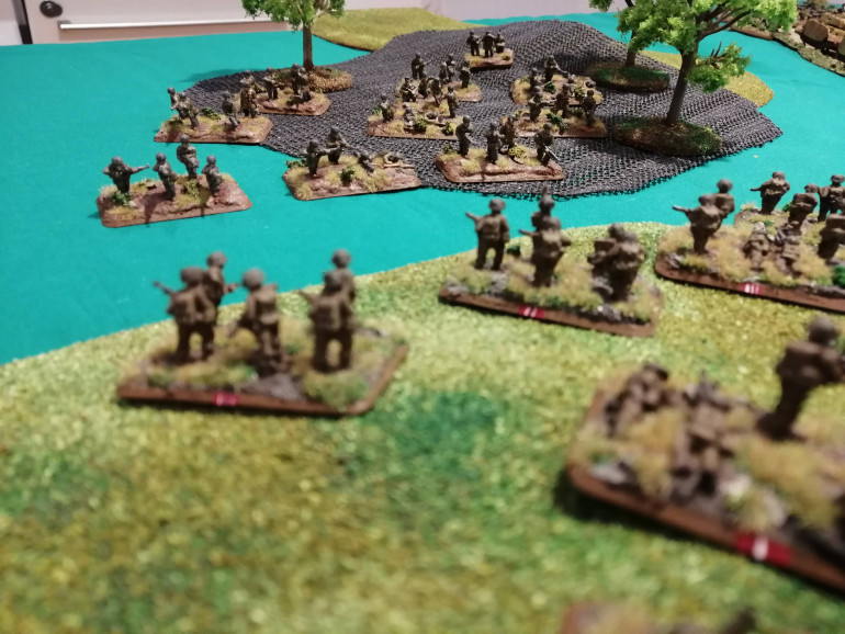 FBP ready to launch their assault out of the tree line
