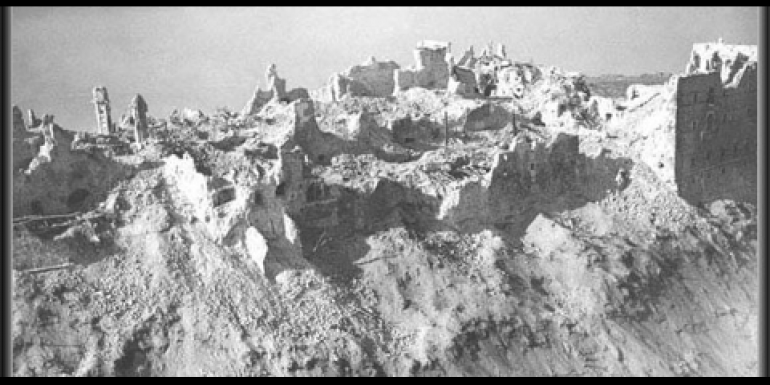 What was left of the monastery