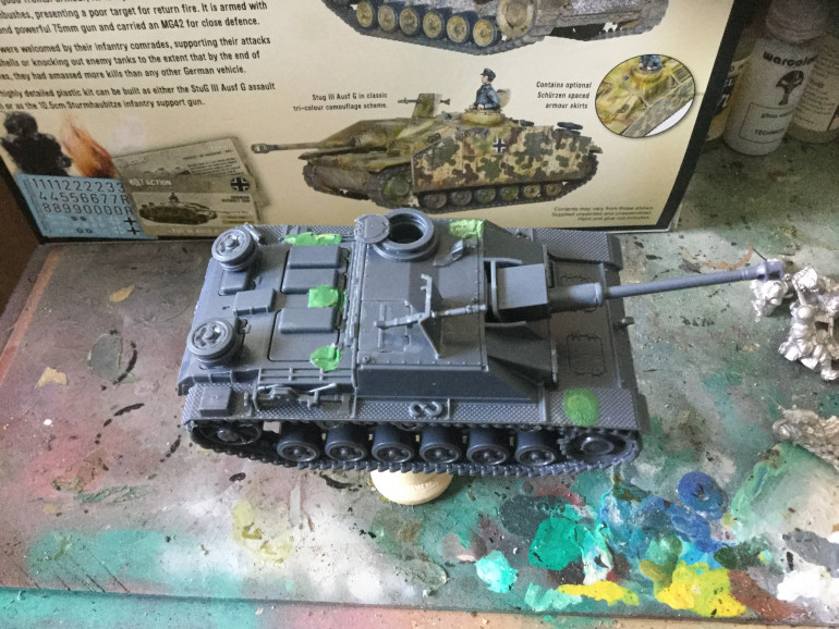 Magnets at strategic points around the Stug