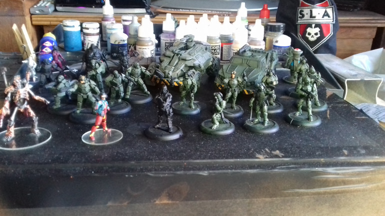 When playtesting I invariably played Shivers so this is the first faction I will paint.