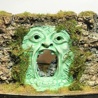 The Mouth of Orcus and a Statue